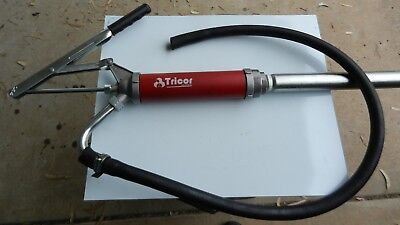Drum Pump Oil Transfer Lever Action Tricor Engineering Australian Made plus Hose
