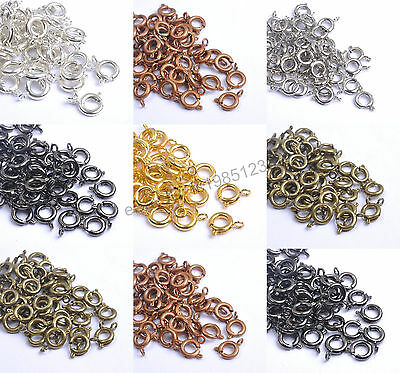 40Pcs Gold & Silver Plated Copper Bronze, BOLT RING CLASPS - Choose - 6MM & 7MM