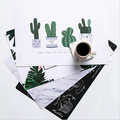 Fashion Cactus Flamingo Desk Mat Table Coaster Novelty Placement for Mugs Cup