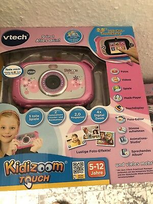 "VTech Kidizoom Touch 7.6 cm (3"") LCD-Display, Objektiv - 2,0 MP - Pink Rose"