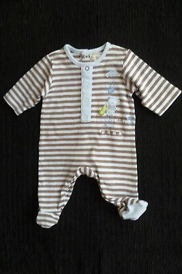 Baby clothes BOY newborn 0-1m Mamas & Papas blue/beige bear babygrow SEE SHOP!
