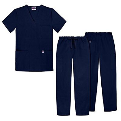 Sivvan Unisex Classic Scrub Set V-neck Top / Drawstring Pants Available in 12...