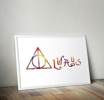 Always After All This Time Harry Potter Quote Wall Art Sticker Decal Decor FI31