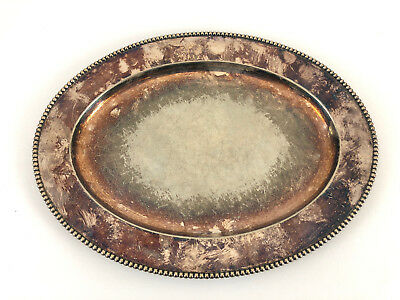 Antique GM Co. (Gorham) silver platted serving tray #01110 ep. c.1903