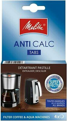4 X Melitta Descaling Tablets For Most Brands Coffee Machines Below  6545475X4