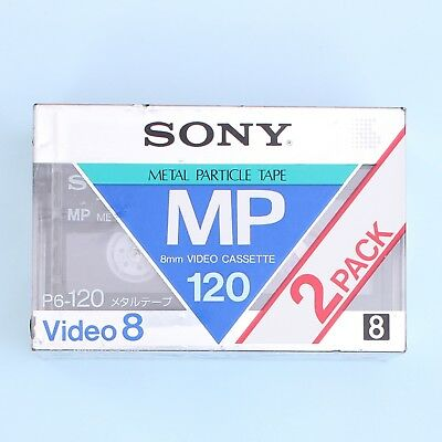 SONY Metal Particle Tape MP P6-120 Video8 8mm 120 Min Cassette (2-Pack) *NEW*