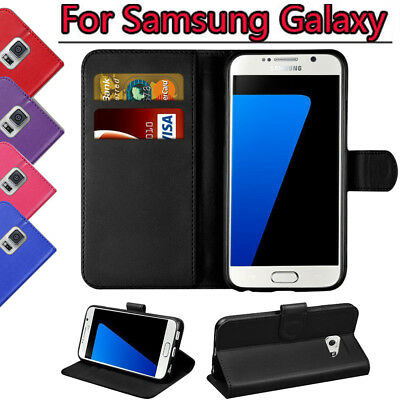 Pu Leather Wallet Flip Case Cover Cards Slot Pouch Fit For Galaxy J6 J4 J3 A5/A8