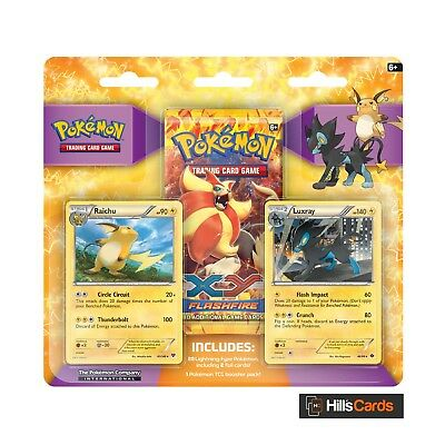 Pokemon Lightning Gym Collector Pack: Triple Blister 3 Booster - Raichu & Luxray