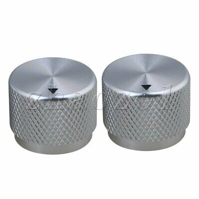 2P 20x15.5mm Silver Al Volume Knobs Rotary Control for 6mm Potentiometer Shaft