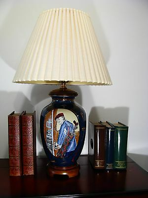 Norman Rockwell Table Lamp. 27 1/2 inches high. Exquisitely Designed. Dr. Golf.