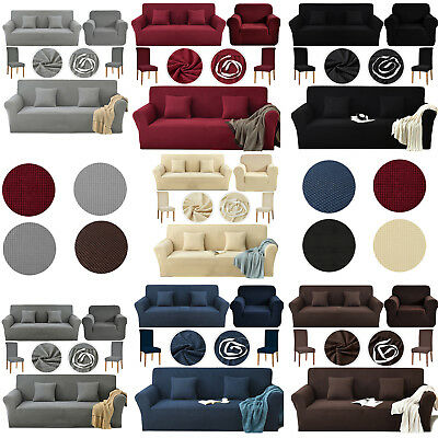 1/2/3 Stretch Spandex Elastic Fabric Sofa Covers Couch Slipcover Sette Protector