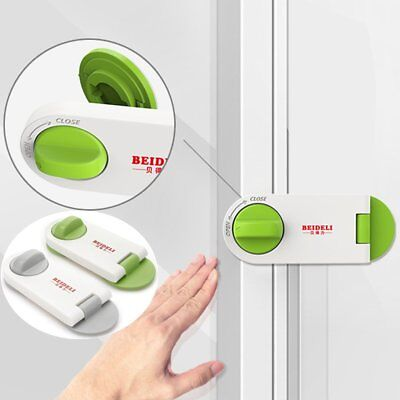 Adhesive Child Kids Baby Cute Safety Lock For Door Drawers Cupboard Cabinet F7