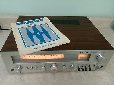 Vintage Older Scott R-316 R316 AM FM Radio Receiver + Manual Perfect condition