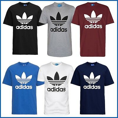 Adidas T-Shirt Herren Shirt Trefoil Logo Shirts Originals 3 Stripes Tee WoW  NEU