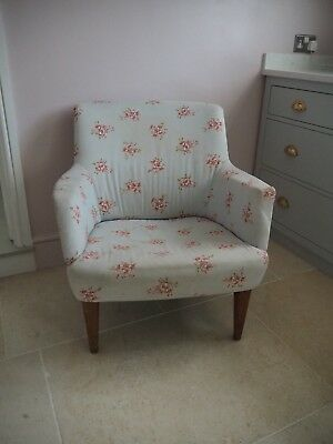 Armchair Mid Century Shabby Chic Scandi Vintage Retro Reupholstering Project