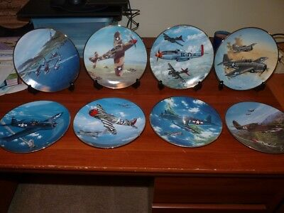 Hamilton Collectable Great Fighter Air Planes of World War II Plates [set of 8]