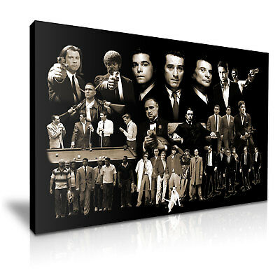 Godfather Goodfellas Pulp Fiction Gangster Collection Stretched Canvas