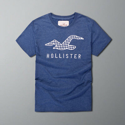 New Design Abercrombie & Fitch Hollister Men Muscle Fit T-shirt Navy2 Size S-XXL
