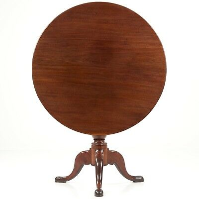 Southern States American Queen Anne Mahogany Tea Table w/ Tilt Top circa 1750-80