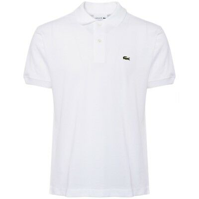 43912c23 Lacoste Men's Classic Pique Polo Shirt Short Sleeve White Collared T-Shirt