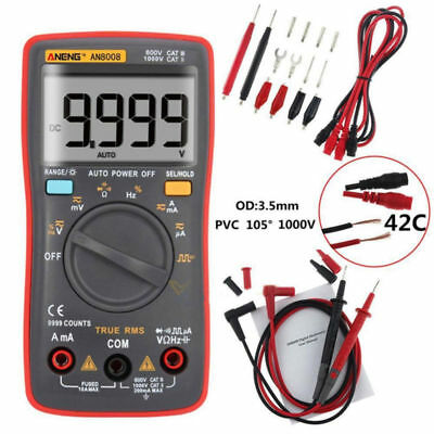 ANENG AN8008 Auto Range Digital LCD Display Electric Handheld Tester Multimeter