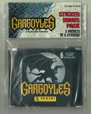 1997 PANINI Gargoyles Promo/ Bonus Pack 5 Sealed Packets 30 Stickers