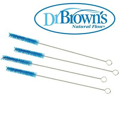 Dr Brown's Baby Infant Milk Bottle Teat Brush 4 pieces Vent Cleaning