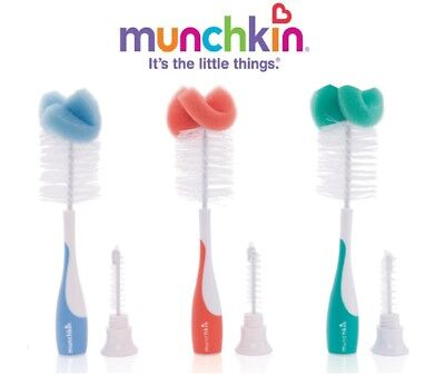 Munchkin Baby Newborn Bottle Valve Teat Brush Cleaning Cleaner