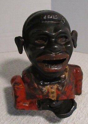 Black Americana Jolly Mechanical Bank Reproduction