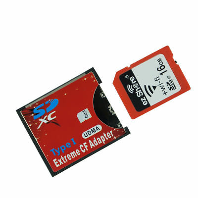 WiFi SD to CF Card Adapter MMC SDHC SDXC to Standard Compact Flash Type I Card