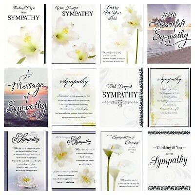 Sympathy Greeting Cards ~ Job Lot 144 Sympathy Cards ~ Carboot ~ Markets etc