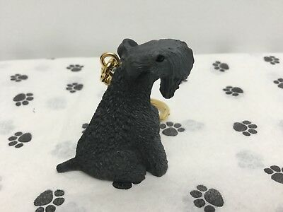 Kerry Blue Terrier Dog Tiny One Resin Keychain Key Ring (New)