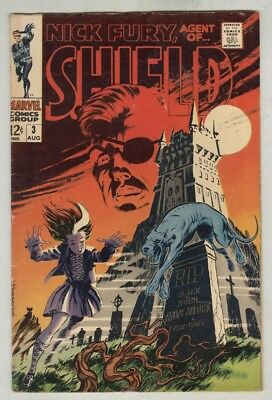 Nick Fury, Agent of SHIELD #3 VG August 1968 Steranko art