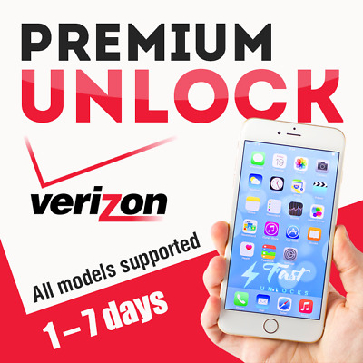 Verizon Premium Unlock Service For Iphone Xs Xr X 8 7 6S 6 Se Contract/ Financed
