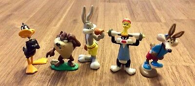 Looney Tunes Bugs Bunny and Gang Exercising Figurine 5pc set