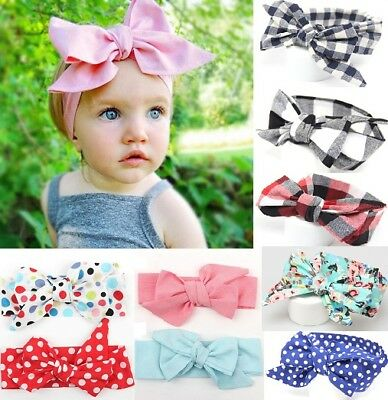 DIY Newborn Headband Ribbon Floral Baby Headdress Kids Hair Band Girls Bow Knot