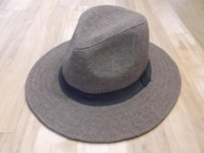7d770c3e9194b GOORIN BROTHERS CHARCOAL Gray Tie-Wrapped Fedora Size S Hat Cap ...