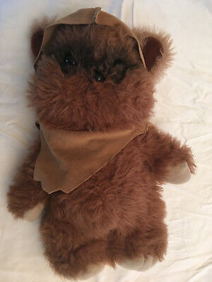 "Kenner 1983 Stuffed 15"" Wicket with cape from Star Wars ROTJ"
