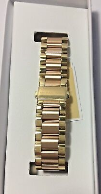 3be83da5cd87 Michael Kors Access Bradshaw Rose Gold   Gold Stainless Watch Band Strap  MKT9025