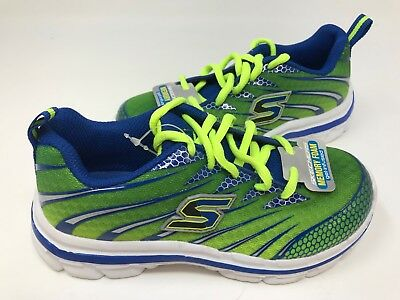 NEW! Skechers Youth Boy's NITRATE Shoes Lime/Blue #95340L 173E z