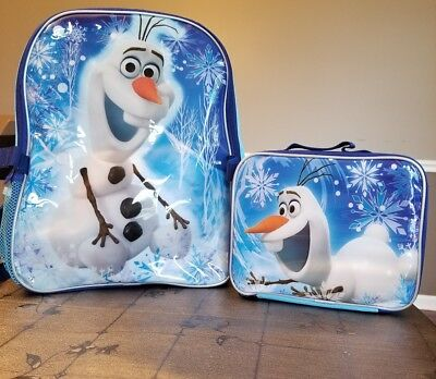 """Disney Frozen """"Fun with Olaf"""" Kids Backpack with Lunchbox - NWT"""