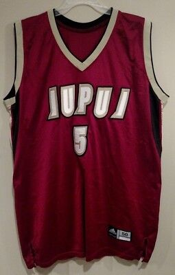 premium selection 5b4ea 7b371 GAME ISSUED WORN IUPUI Jaguars Adidas Basketball Jersey 50
