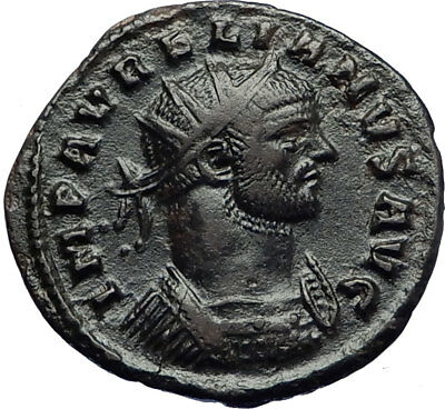 AURELIAN with JUPITER Authentic Ancient Genuine 272AD Rome Roman Coin i70732