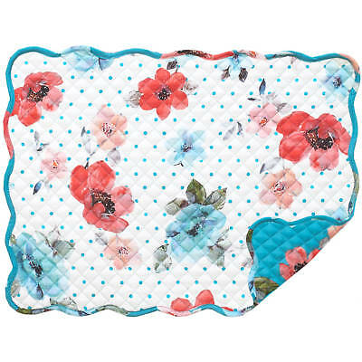 The Pioneer Woman Placemat Vintage Bloom Quilted, Reversible - Free Ship!