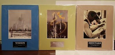 RARE DISNEY LASER CEL Set of 3 Magic Heritage and Vision All New in package