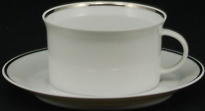 SET of 6 - Rosenthal Continental Platinum Band Linear Shape Cup and Saucer