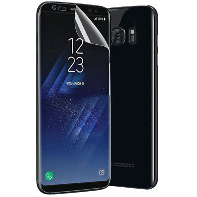 Soft TPU Screen Protector Film For Samsung Galaxy S9+ S8+ Note 8 S7 edge UK98