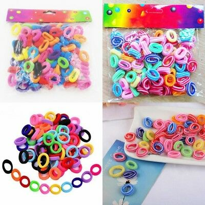 Elastic Hair Bands Ties Girl Small Size Rubber Band Ponytail Holder Ropes 200pcs