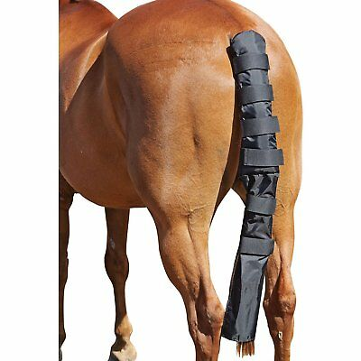 Roma Padded With Bag Unisex Horse Care Tail Guard - Black All Sizes