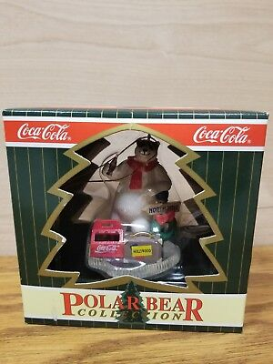 1996 coca cola polar bear collection Xmas ornament